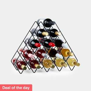 15 Bottle Wine Rack £12.74 Delivered @ VonShef