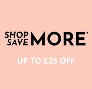 £10 off when you spend £60, £15 off when you spend £75, £25 off when you spend £125 with Voucher code @ Feel Unique