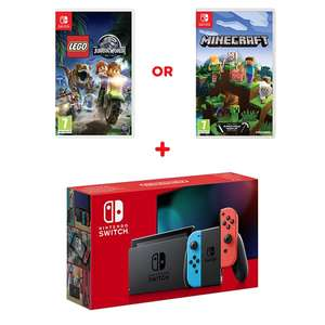 Nintendo Switch Neon Console (Improved Battery) & Just dance 2020 £289.99 at smyths
