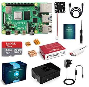 Raspberry Pi 4 (4GB RAM model) full kit and accessories £71.99 Sold by TrekPow UK and Fulfilled by Amazon.
