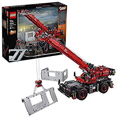 LEGO 42082 Technic Rough Terrain Crane 2 in 1 Mobile Pile Driver Heavy Duty Truck £160 @ Amazon