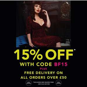 15% off at Collectif and free delivery over £50