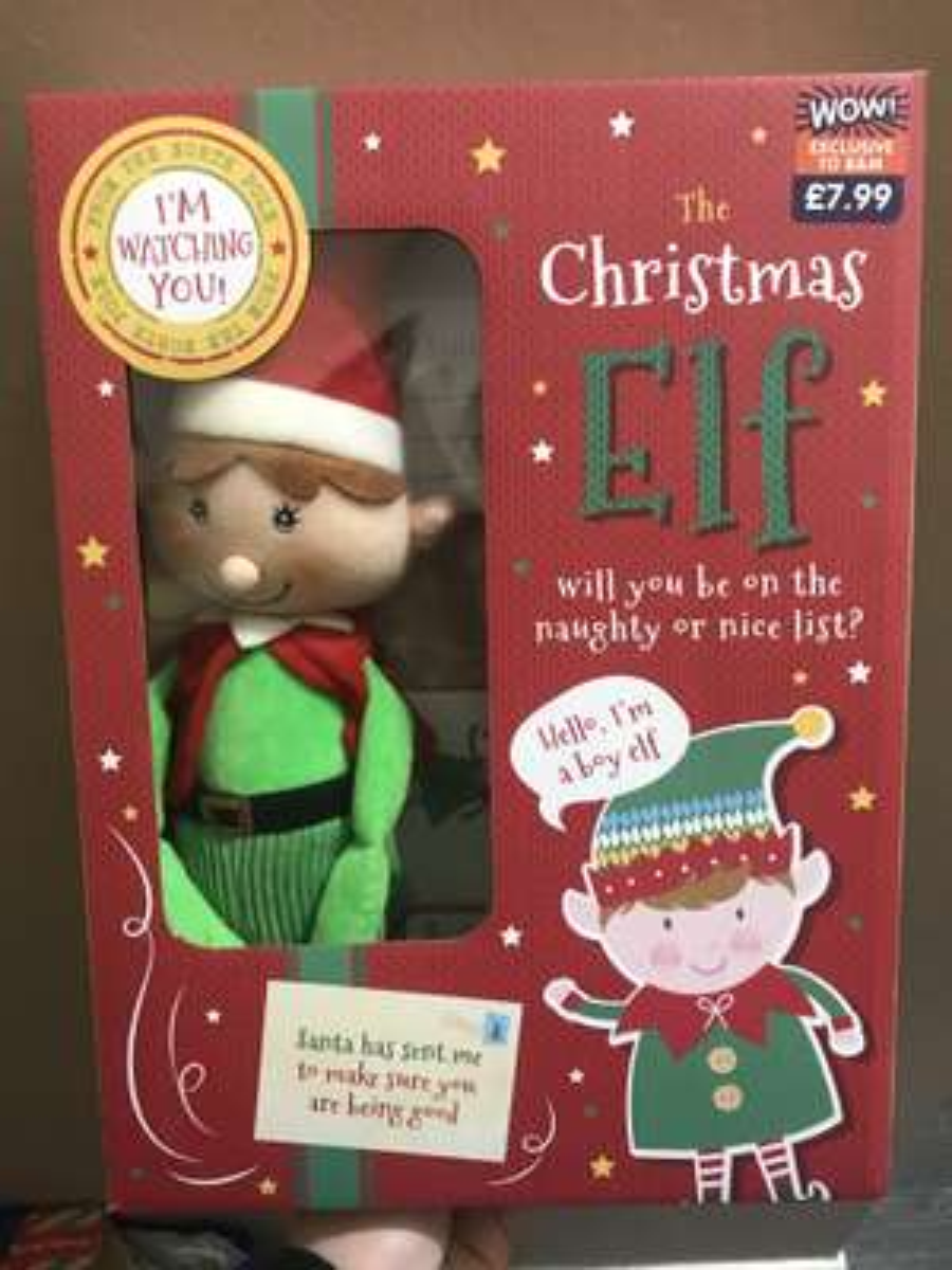 Christmas Elf £3.00 @ B&M Forfar