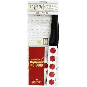 Harry Potter Quill Pen Set £3.75 free click and collect @ The works