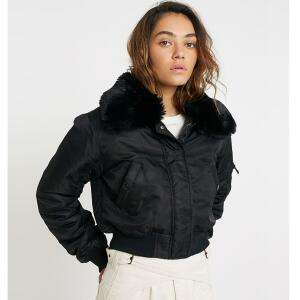 Womens Bomber Jacket with Removable Faux Fur Collar (6 colours) now £23.99 delivered (£18.99 for Students) @ Urban Outfitters