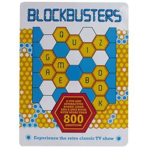 Blockbusters Board Game and quiz book £6 with code @ The Works (free Click and Collect)