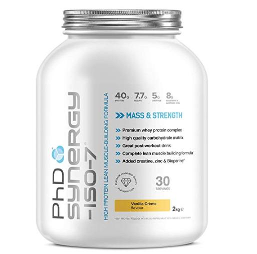 PhD Nutrition Synergy ISO-7 All-in-One Whey Protein Powder, Vanilla Creme, 2 kg £14.99 prime / £19.48 non prime @ Amazon