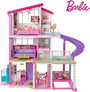 Barbie Estate Dreamhouse Adventures Large Three-Story Dolls House, Pink with Transforming Accessories Included Playset - £176 @ Amazon