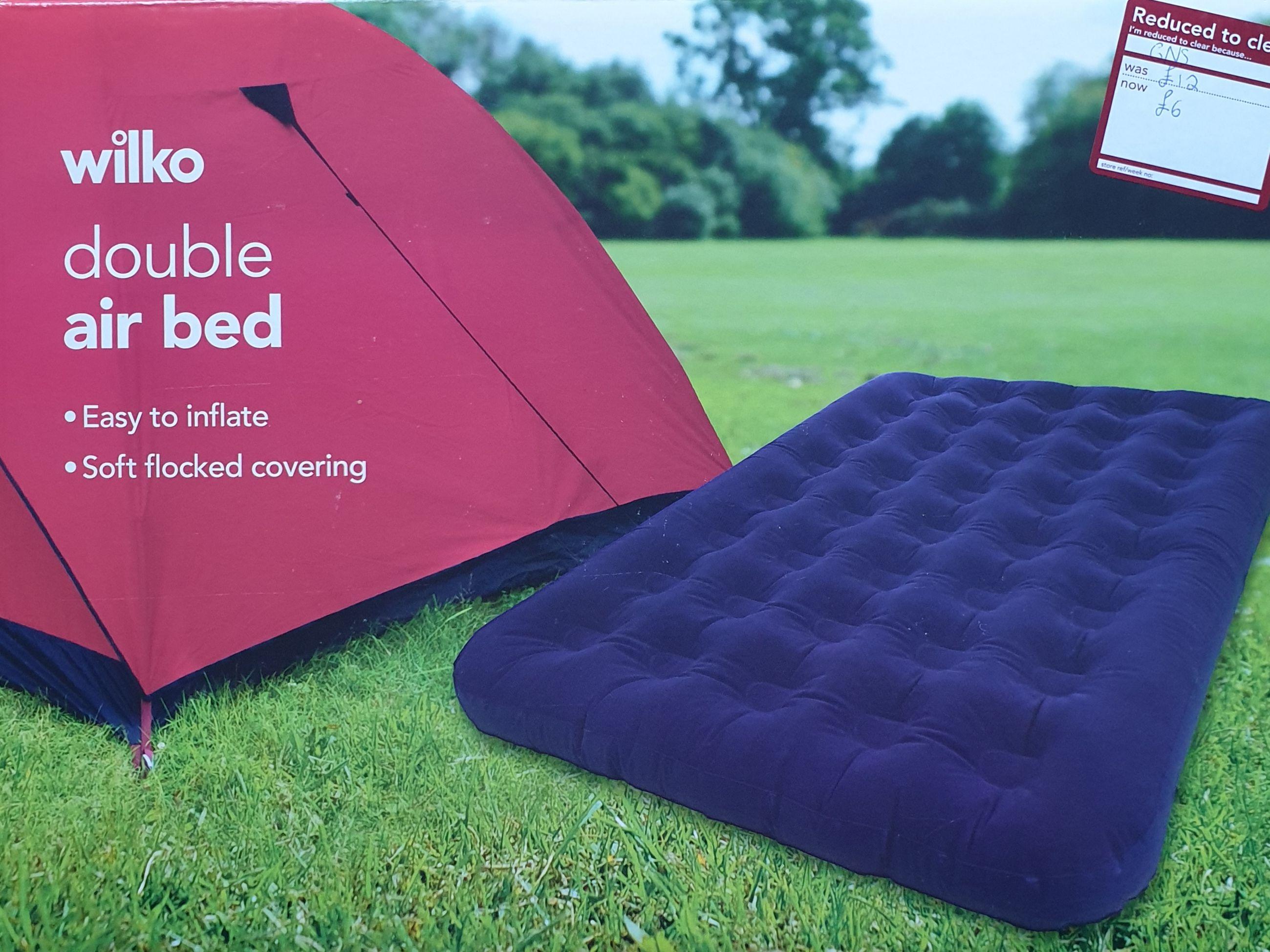 Wilko Double air mattress £6 / single £4 instore Romford