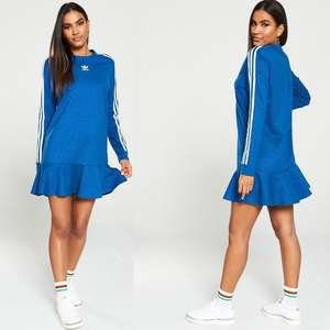 adidas Originals Tee Dress - Blue (was £45) Now £25 Click & Collect @ Very