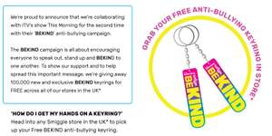 Free Be Kind Keyring from Smiggle Stores Available instore from Smiggle