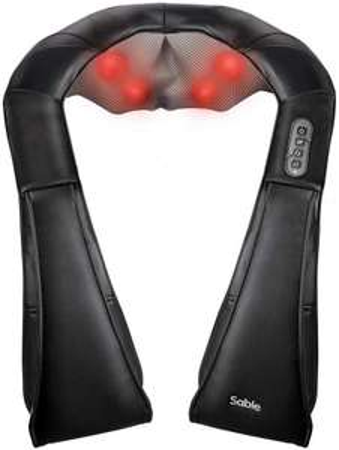 Sable rechargeable-cordless Shiatsu shoulder, back & neck massager for £19.99 delivered (using code) @ Sunvalleytek-UK / fulfilled by Amazon
