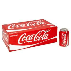 2 x 15 pack of coke cans 330ml (regular version) for £10 at Morrisons