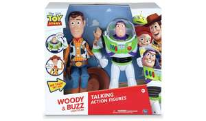 Disney Toy Story Woody and Buzz Talking Figures £32 with code @ Argos