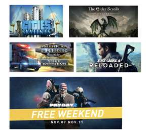 Steam : Free Play Days ( Payday 2 / Just Cause 4 Reloaded/ The Elder Scrolls Online/ Cities: Skylines & more) PC/Linux @ Steam Store