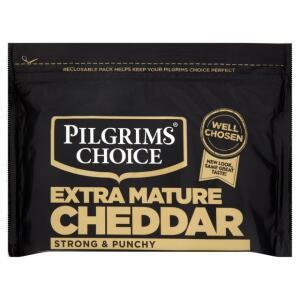 Pilgrims Choice Mature & Extra Mature Cheddar Cheese 550g £3 @ Sainsburys