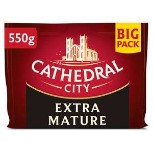 Cathedral City MATURE & Extra Mature Cheddar Cheese 550g £3 @ Sainsburys