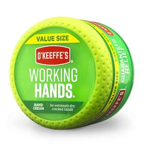 O'Keeffe's® Working Hands Value Size Jar 193g £6.60 + £4.49 delivery Non Prime @ Amazon