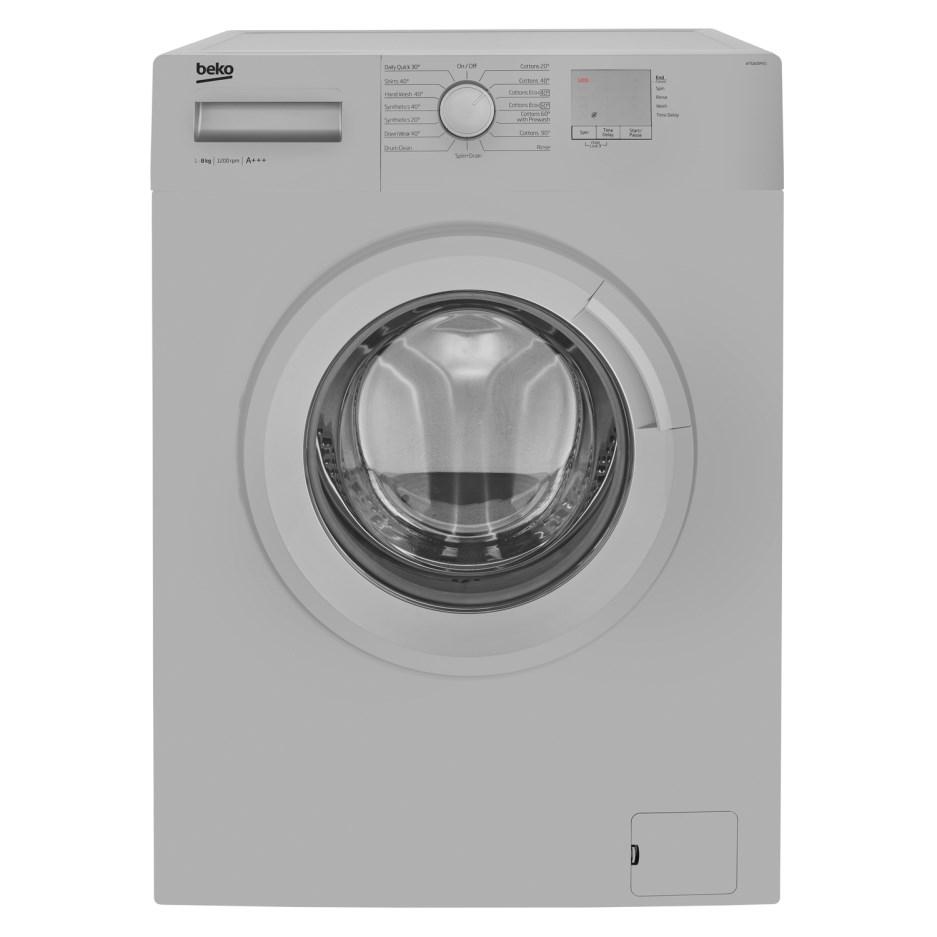 Beko WTG820M1S 8kg 1200prm Freestanding Washing Machine - Silver WTG820M1S £199 + £19.99 delivery Appliances Direct