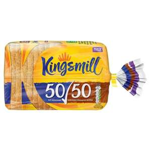 Kingsmill 50/50 Bread 800g down to 89p online too at Asda