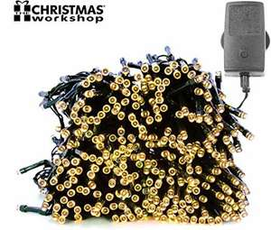 Christmas Workshop 200 LED Warm White Chaser lights, Indoor and Outdoor with 8 Functions £11.06 @ Amazon (+£4.49 Non-prime)