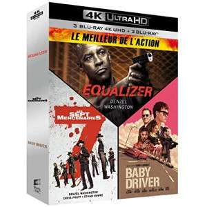 The Equalizer + The Magnificent Seven + Baby Driver 4K HDR + Blu-Ray Boxset £21.94 Delivered @ Amazon France.
