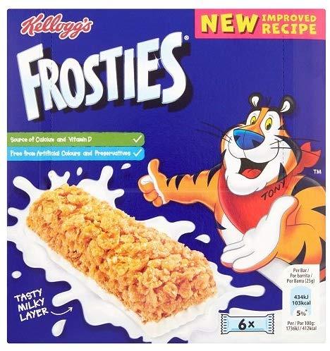 Kellogg's Frosties / Coco pop / Rice Krispy Bars 6 packs 59p + £3.99 delivery @ Amazon Prime Now