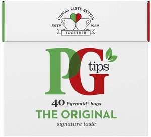PG Tips 40 Tea Bags 66p + £3.99 delivery @ Amazon Prime Now (Area specific)