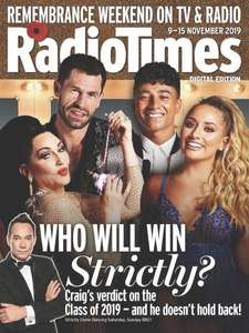 6 issues print Radio Times direct debit subscription for £1 delivered @ buysubscriptions.com