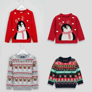 Christmas Jumpers reduced @ Matalan - Includes Kids & Adults plus matching Family Jumpers - Prices from £6.30 + Free Click & Collect