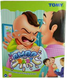 TOMY T72736 Burp The Baby - Hilarious Children's Game That Squirts Water! - For 2 to 4 players £6.99 @ Amazonm (+£4.49 Non-prime)