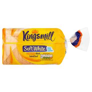 Kingsmill Medium Sliced White Bread 800g - £1 @ Sainsburys (£0.50 Cashback from Checkoutsmart.com or Clicksnap)