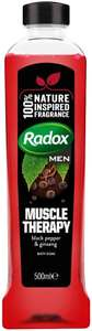 Radox Muscle Therapy Bath Soak with Black Pepper and Ginseng, 500 ml 84p @ Amazon Pantry - £15 minimum spend + £3.99 delivery
