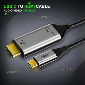 Cabletime USB C to HDMI Cable 4K 60Hz £10.30 @ Aliexpress