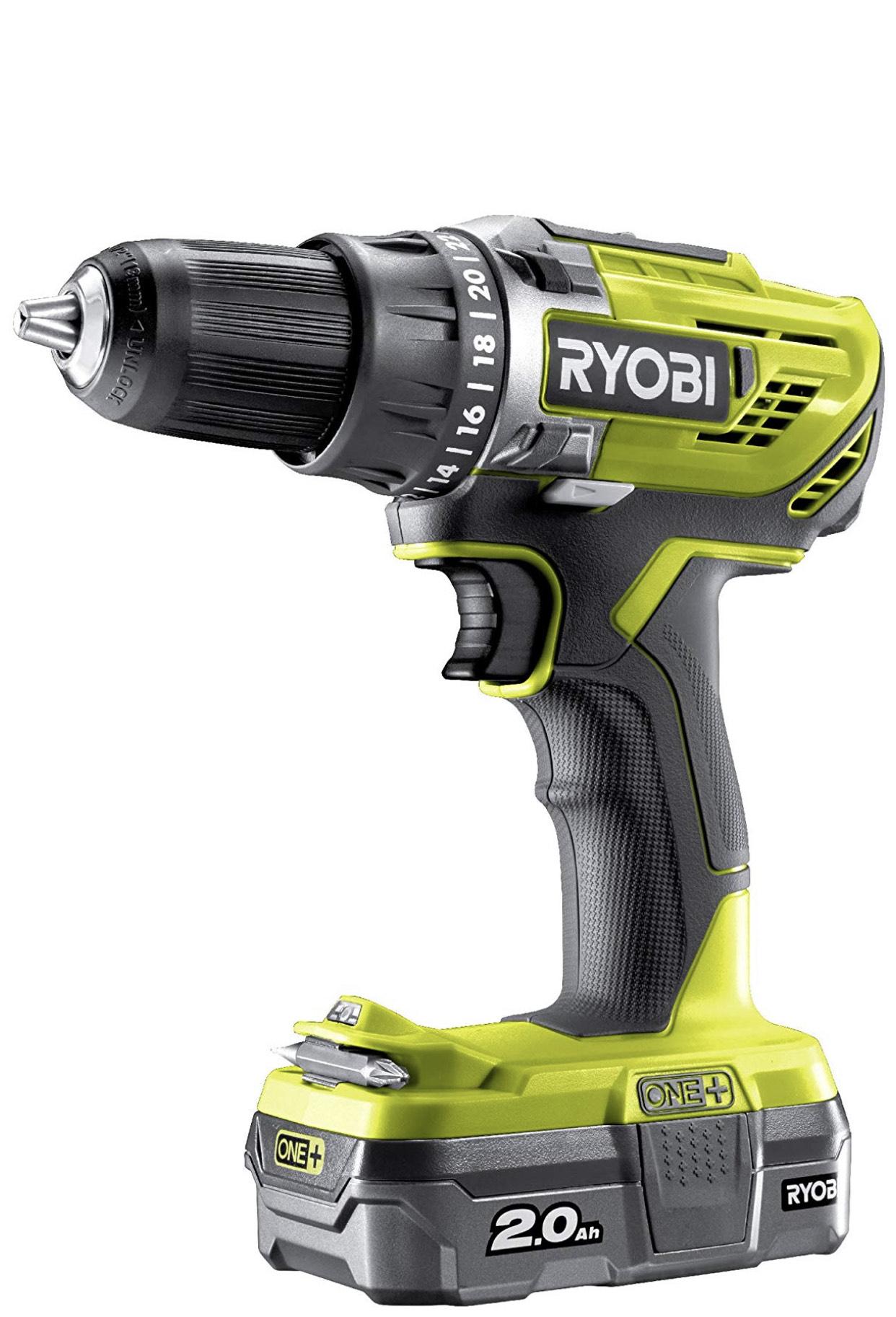 Ryobi R18DD3-120S One Plus Cordless Drill Driver Starter Kit £83.99 @ amazon
