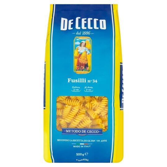 De Cecco 500G Fusilli / Linguine / Farfalle Pasta +more £1 @ Tesco
