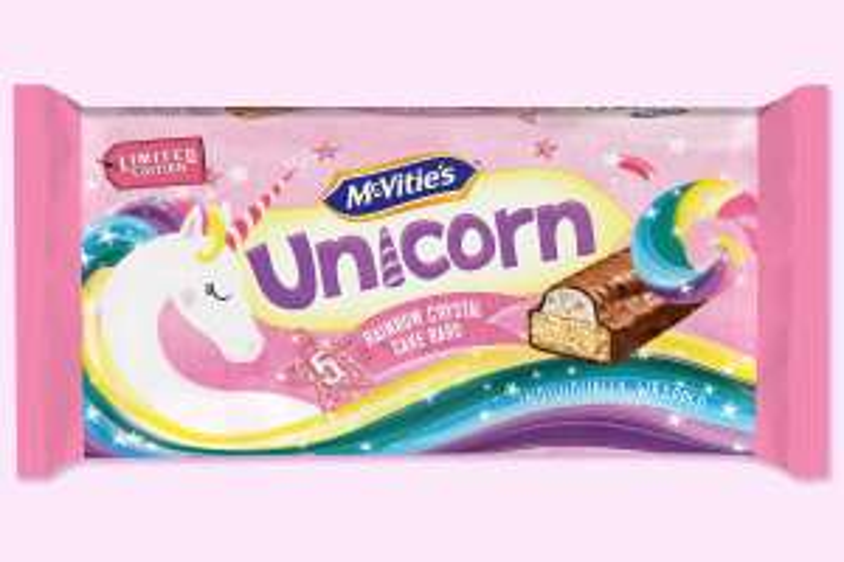 Mcvities unicorn cake bars 59p in Heron Foods Partington