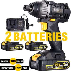 Teccpo Impact Driver - £67.99 Sold by anchor elephant Euro and Fulfilled by Amazon