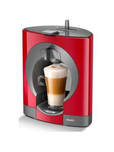Krups NESCAFÉ® Dolce Gusto® Oblo Manual Coffee Machine - Red £27.99 @ Very (Free Click and Collect)