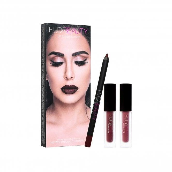 Huda Beauty Vixen and Famous Lip Contour 3 Piece Set (2 colour options) £22 delivered @ Beauty Base