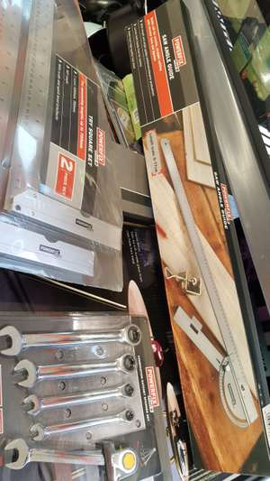 Tools instore for £2 @ Lidl (Bromsgrove) i.e Ratchet Spanner Set, Try Square Set and Saw Angle Guide