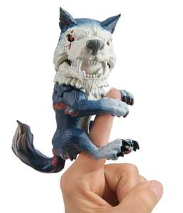 Wow Wee 3961 Untamed Dire Wolf by Fingerlings – Midnight (Black and Red) . Amazon Add On Item - £5