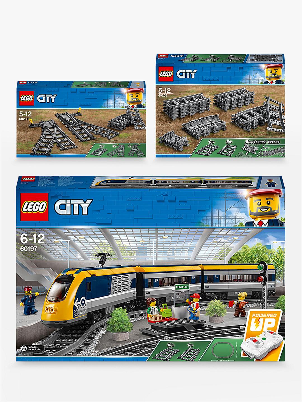 LEGO City 60197 Passenger Train, 60205 Tracks & 60238 Switch - £95.99 @ John Lewis & Partners