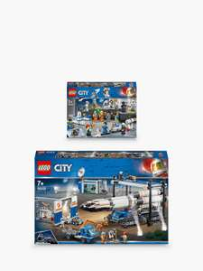 LEGO City 60229 Rocket Assembly & Transport Space Port & 60230 Space Research & Development Bundle £119.99 @ John Lewis & Partners