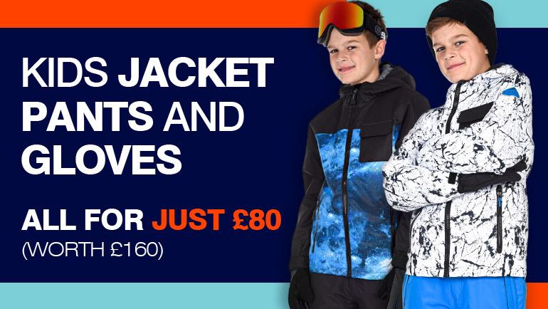 Kids Ski Gear - Jacket, Pants & Gloves - £80 @ Surfanic