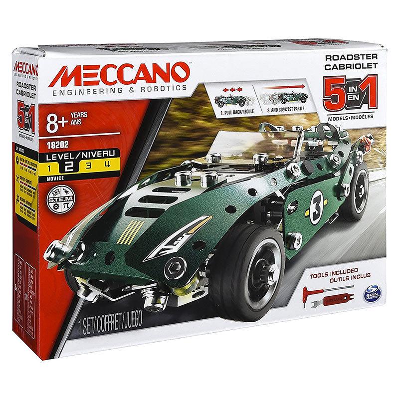 MECCANO 5 Model Set - Roadster W. Pull Back Motor 6040176 £11.50 / £14.89 non prime from Amazon