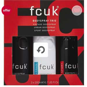FCUK The Complete Set £6.50 @ Boots