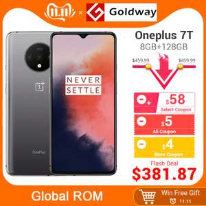 "Global ROM OnePlus 7T 7 T 8GB RAM 128GB ROM Mobile Phone Snapdragon 855 Plus Octa Core 6.55"" Screen £359 AliExpress / Hong Kong Goldway"