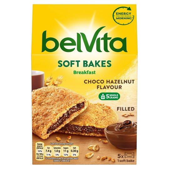 Belvita Soft Bakes Filled Choco Hazelnut or Strawberry Biscuits 250G £1.39 @ Tesco