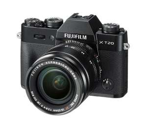 FUJIFILM X-T20 Mirrorless Camera with XF 18-55 mm f/2.8-4 R LM OIS Lens - £609 (with cashback) @ Currys